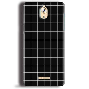 CoolPad Mega 3 Mobile Covers Cases Black with White Checks - Lowest Price - Paybydaddy.com