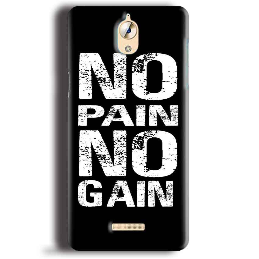 CoolPad Mega 3 Mobile Covers Cases No Pain No Gain Black And White - Lowest Price - Paybydaddy.com