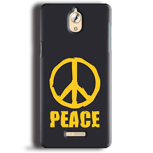 CoolPad Mega 3 Mobile Covers Cases Peace Blue Yellow - Lowest Price - Paybydaddy.com