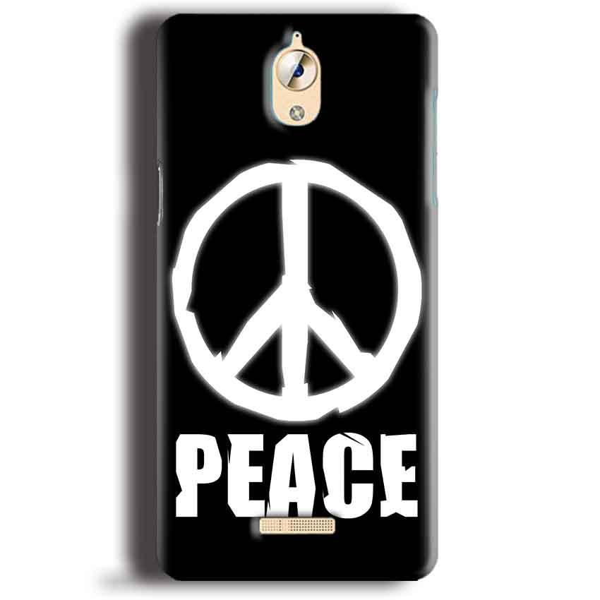 CoolPad Mega 3 Mobile Covers Cases Peace Sign In White - Lowest Price - Paybydaddy.com