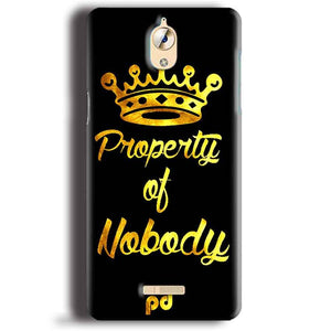 CoolPad Mega 3 Mobile Covers Cases Property of nobody with Crown - Lowest Price - Paybydaddy.com