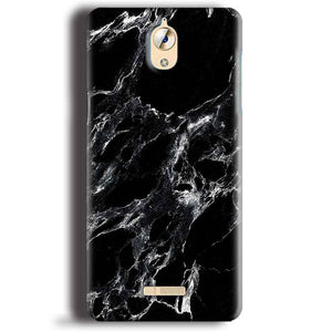CoolPad Mega 3 Mobile Covers Cases Pure Black Marble Texture - Lowest Price - Paybydaddy.com