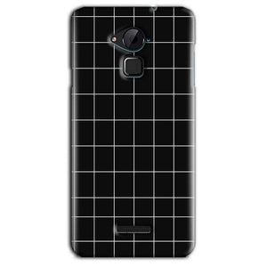 CoolPad Note 3 Lite Mobile Covers Cases Black with White Checks - Lowest Price - Paybydaddy.com