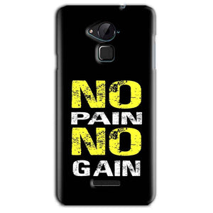 CoolPad Note 3 Lite Mobile Covers Cases No Pain No Gain Yellow Black - Lowest Price - Paybydaddy.com