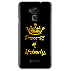 CoolPad Note 3 Lite Mobile Covers Cases Property of nobody with Crown - Lowest Price - Paybydaddy.com