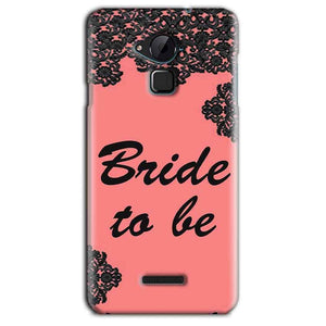 CoolPad Note 3 Lite Mobile Covers Cases Mobile Covers Cases bride to be with ring Black Pink - Lowest Price - Paybydaddy.com
