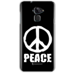 CoolPad Note 3 Mobile Covers Cases Peace Sign In White - Lowest Price - Paybydaddy.com