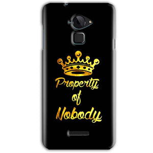 CoolPad Note 3 Mobile Covers Cases Property of nobody with Crown - Lowest Price - Paybydaddy.com