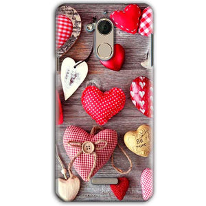 CoolPad Note 5 Mobile Covers Cases Hearts- Lowest Price - Paybydaddy.com