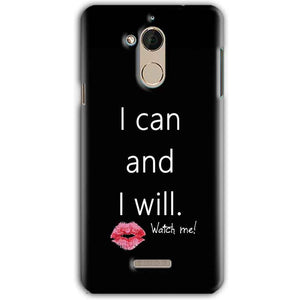 CoolPad Note 5 Mobile Covers Cases i can and i will Lips - Lowest Price - Paybydaddy.com