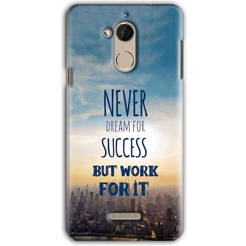 CoolPad Note 5 Mobile Covers Cases Never Dreams For Success But Work For It Quote - Lowest Price - Paybydaddy.com