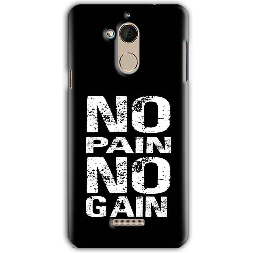 CoolPad Note 5 Mobile Covers Cases No Pain No Gain Black And White - Lowest Price - Paybydaddy.com
