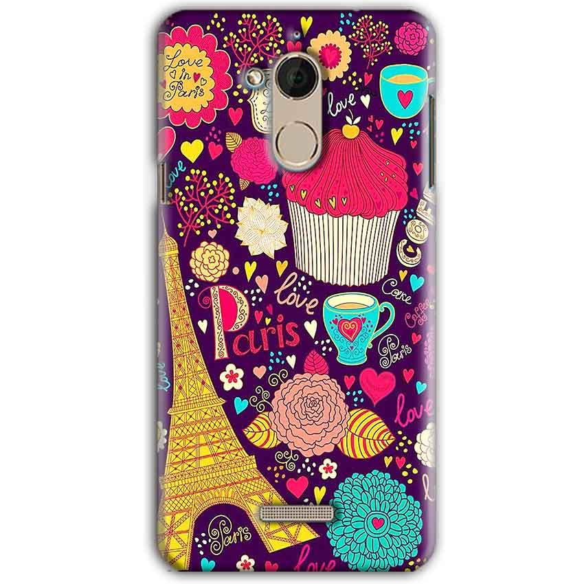 CoolPad Note 5 Mobile Covers Cases Paris Sweet love - Lowest Price - Paybydaddy.com