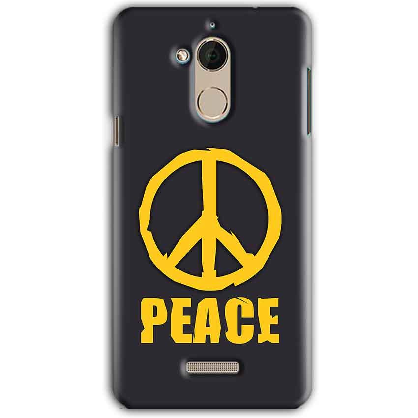 CoolPad Note 5 Mobile Covers Cases Peace Blue Yellow - Lowest Price - Paybydaddy.com