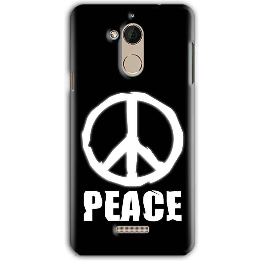 CoolPad Note 5 Mobile Covers Cases Peace Sign In White - Lowest Price - Paybydaddy.com
