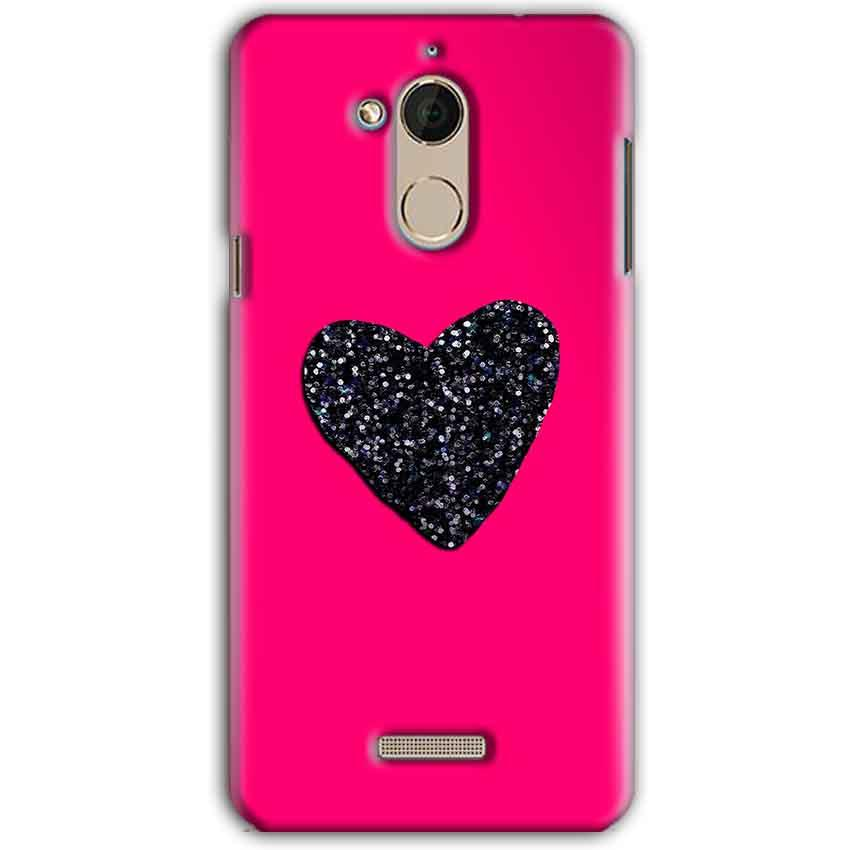 CoolPad Note 5 Mobile Covers Cases Pink Glitter Heart - Lowest Price - Paybydaddy.com