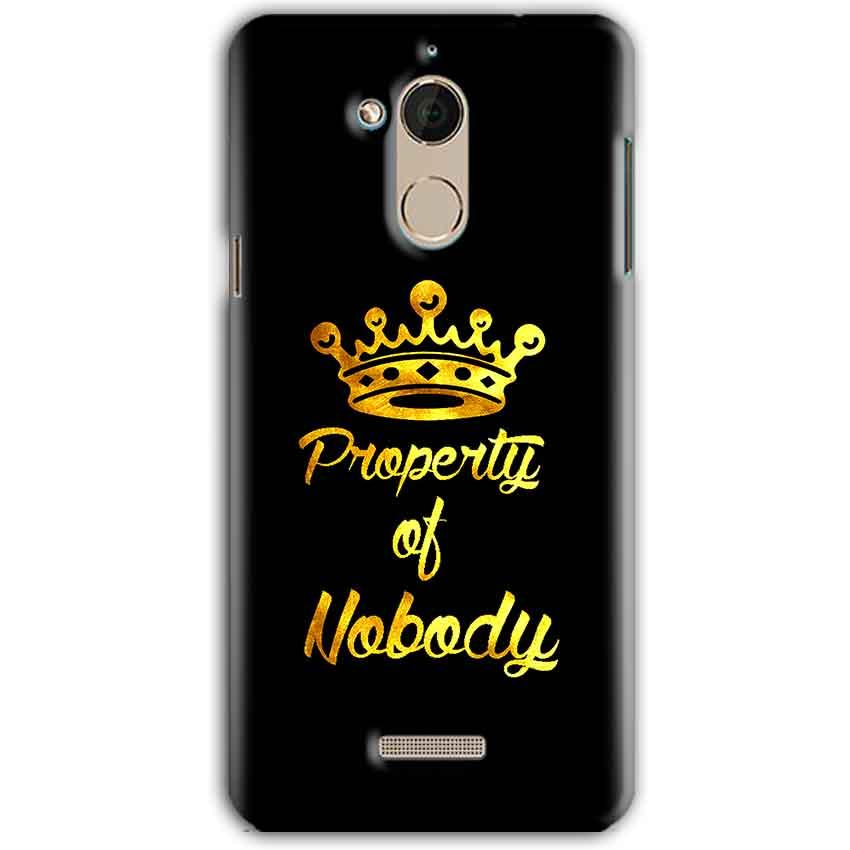 CoolPad Note 5 Mobile Covers Cases Property of nobody with Crown - Lowest Price - Paybydaddy.com