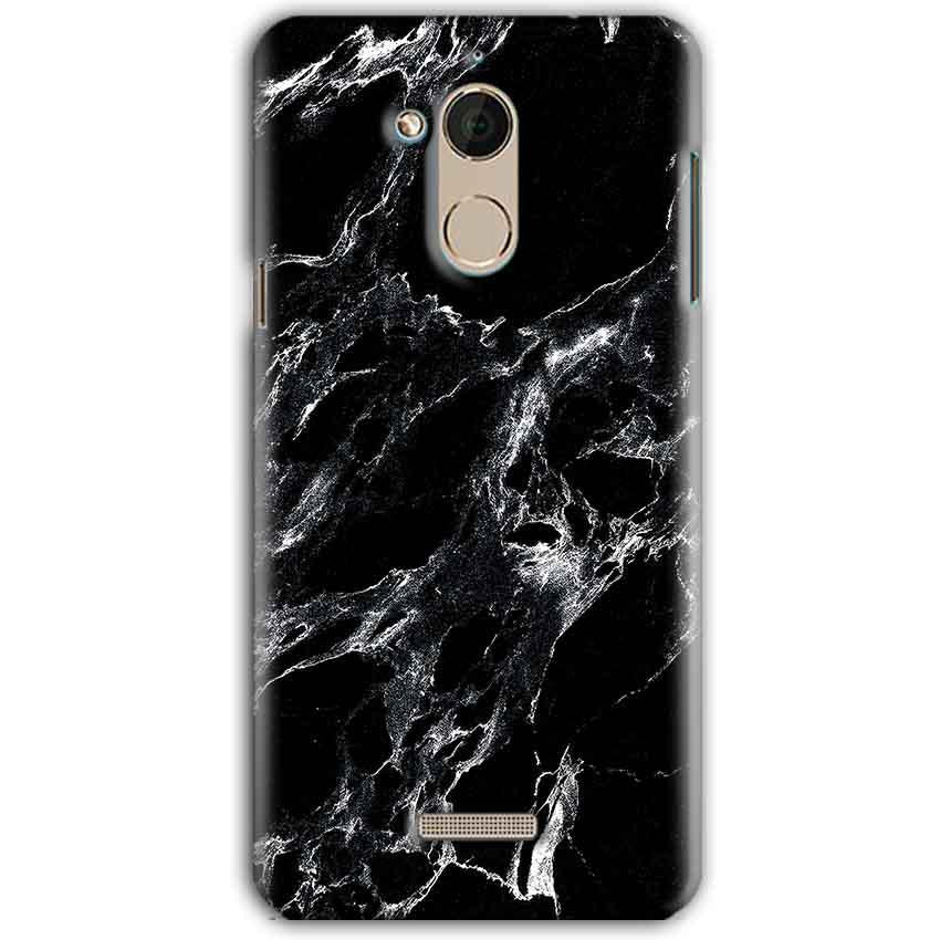 CoolPad Note 5 Mobile Covers Cases Pure Black Marble Texture - Lowest Price - Paybydaddy.com