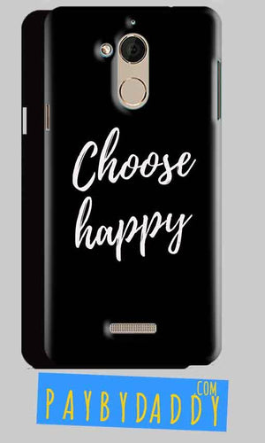 CoolPad Note 5 Mobile Covers Cases Choose happy - Lowest Price - Paybydaddy.com