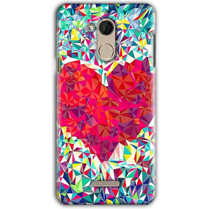 CoolPad Note 5 Mobile Covers Cases heart Prisma design - Lowest Price - Paybydaddy.com