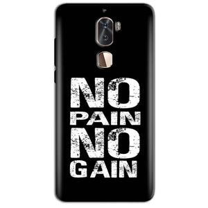 Coolpad Cool 1 Mobile Covers Cases No Pain No Gain Black And White - Lowest Price - Paybydaddy.com