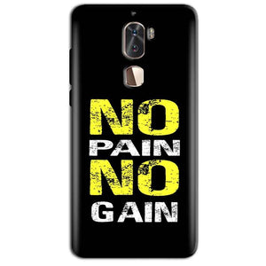 Coolpad Cool 1 Mobile Covers Cases No Pain No Gain Yellow Black - Lowest Price - Paybydaddy.com