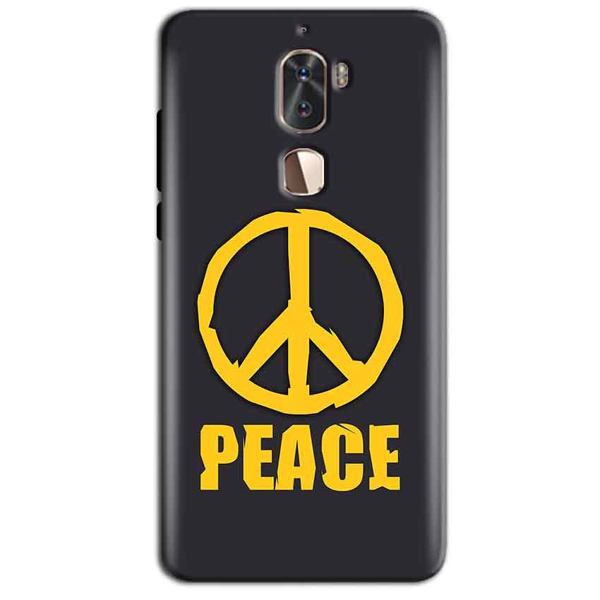 Coolpad Cool 1 Mobile Covers Cases Peace Blue Yellow - Lowest Price - Paybydaddy.com