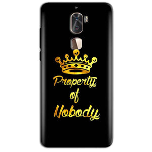 Coolpad Cool 1 Mobile Covers Cases Property of nobody with Crown - Lowest Price - Paybydaddy.com