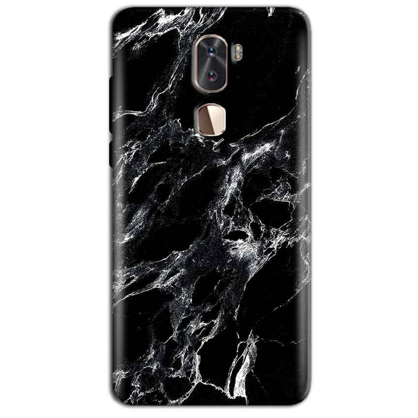 Coolpad Cool 1 Mobile Covers Cases Pure Black Marble Texture - Lowest Price - Paybydaddy.com