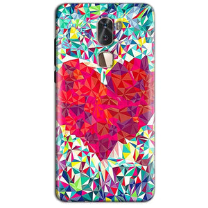 Coolpad Cool 1 Mobile Covers Cases heart Prisma design - Lowest Price - Paybydaddy.com
