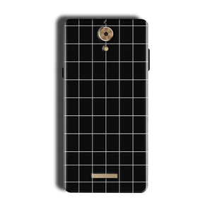 Coolpad Mega 2.5D Mobile Covers Cases Black with White Checks - Lowest Price - Paybydaddy.com