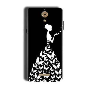 Coolpad Mega 2.5D Mobile Covers Cases Butterfly black girl - Lowest Price - Paybydaddy.com