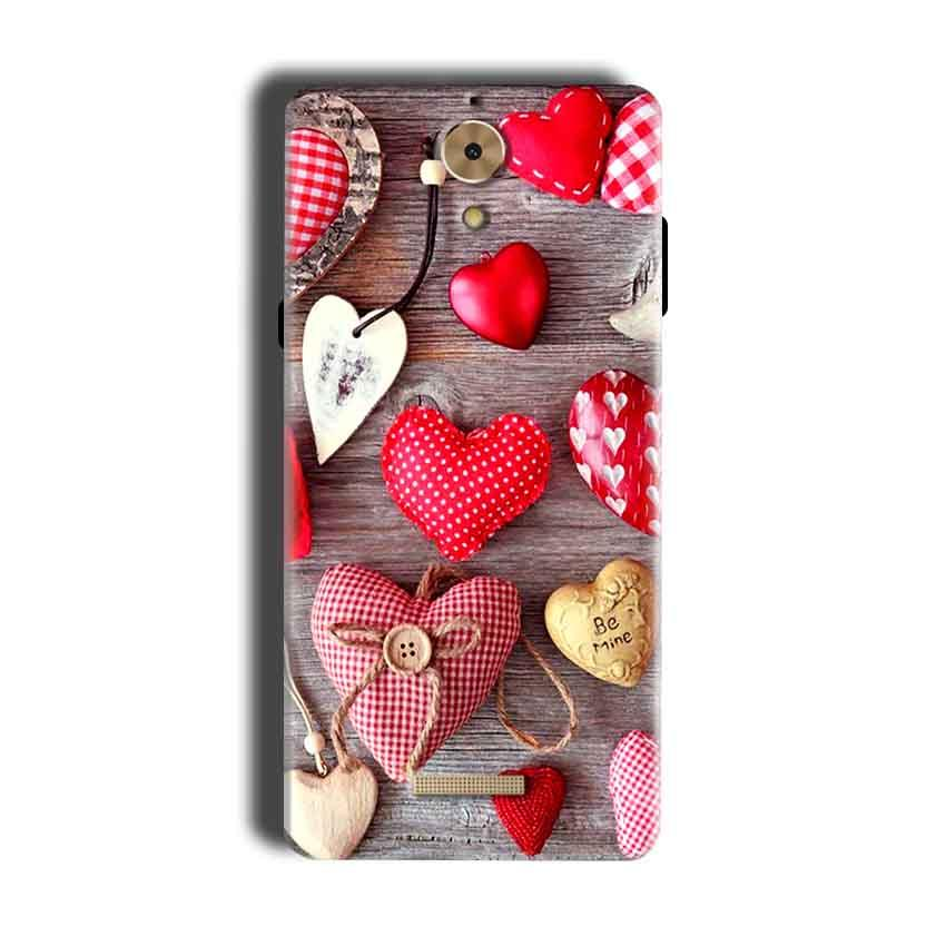 Coolpad Mega 2.5D Mobile Covers Cases Hearts- Lowest Price - Paybydaddy.com