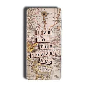 Coolpad Mega 2.5D Mobile Covers Cases Live Travel Bug - Lowest Price - Paybydaddy.com