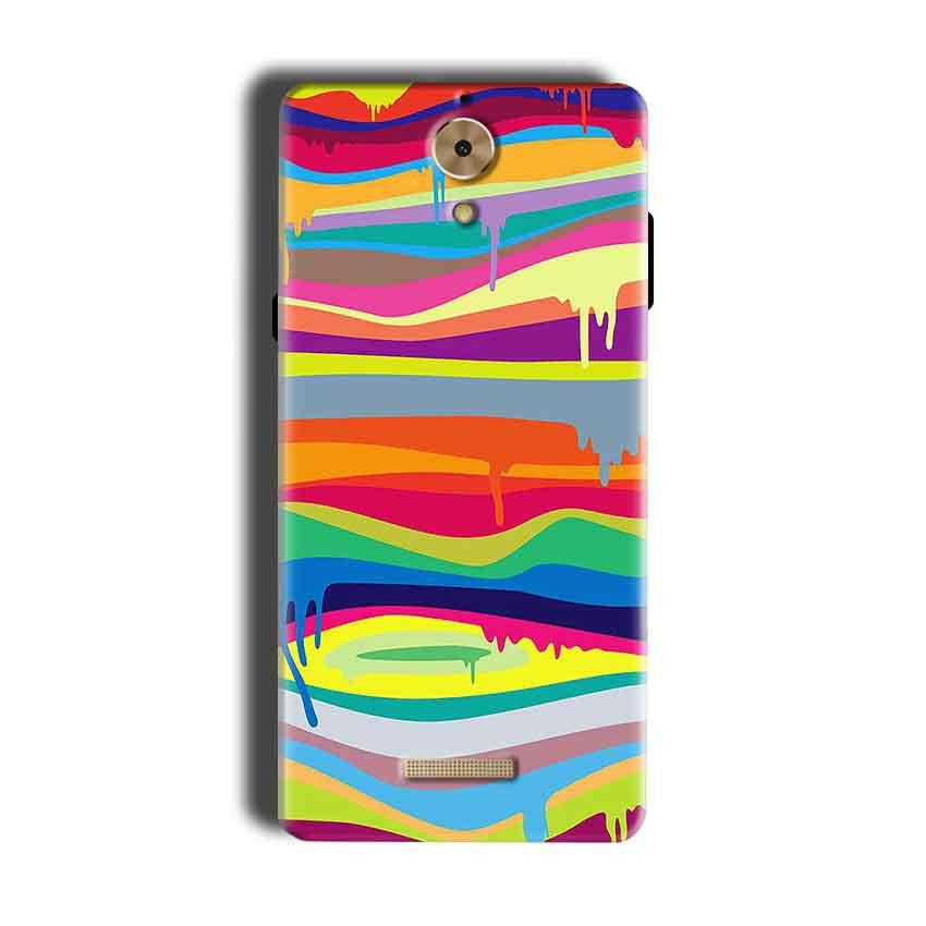 Coolpad Mega 2.5D Mobile Covers Cases Melted colours - Lowest Price - Paybydaddy.com