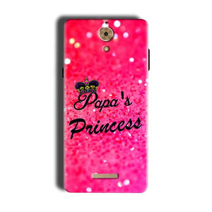Coolpad Mega 2.5D Mobile Covers Cases PAPA PRINCESS - Lowest Price - Paybydaddy.com
