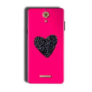 Coolpad Mega 2.5D Mobile Covers Cases Pink Glitter Heart - Lowest Price - Paybydaddy.com