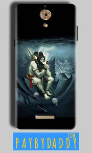 Coolpad Mega 2.5D Shiva Smoking Mobile Back Cover Case