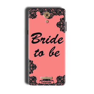 Coolpad Mega 2.5D Mobile Covers Cases Mobile Covers Cases bride to be with ring Black Pink - Lowest Price - Paybydaddy.com