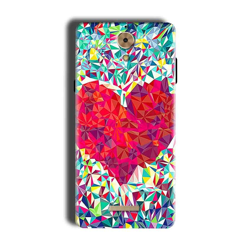Coolpad Mega 2.5D Mobile Covers Cases heart Prisma design - Lowest Price - Paybydaddy.com