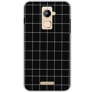 Coolpad Note 3 Plus Mobile Covers Cases Black with White Checks - Lowest Price - Paybydaddy.com