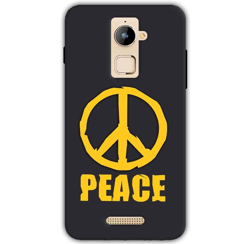 Coolpad Note 3 Plus Mobile Covers Cases Peace Blue Yellow - Lowest Price - Paybydaddy.com