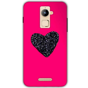 Coolpad Note 3 Plus Mobile Covers Cases Pink Glitter Heart - Lowest Price - Paybydaddy.com