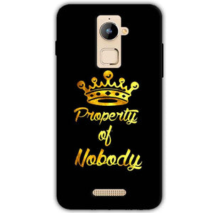 Coolpad Note 3 Plus Mobile Covers Cases Property of nobody with Crown - Lowest Price - Paybydaddy.com