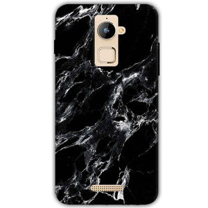 Coolpad Note 3 Plus Mobile Covers Cases Pure Black Marble Texture - Lowest Price - Paybydaddy.com