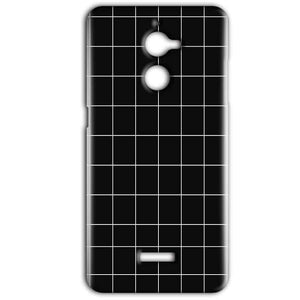 Coolpad Note 5 Lite Mobile Covers Cases Black with White Checks - Lowest Price - Paybydaddy.com