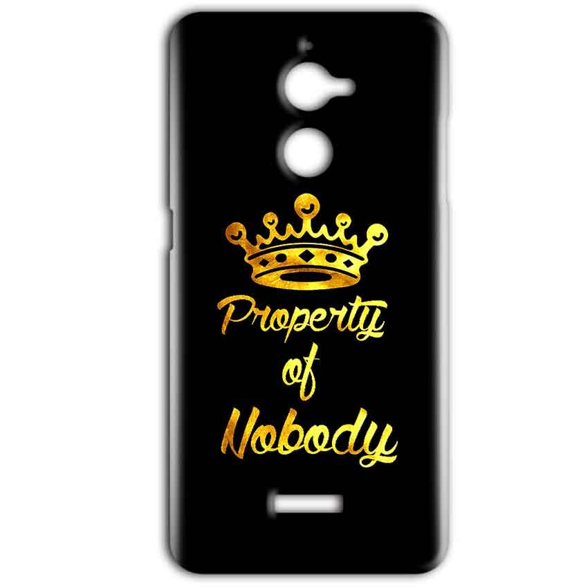 Coolpad Note 5 Lite Mobile Covers Cases Property of nobody with Crown - Lowest Price - Paybydaddy.com