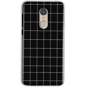 Gionee A1 Mobile Covers Cases Black with White Checks - Lowest Price - Paybydaddy.com