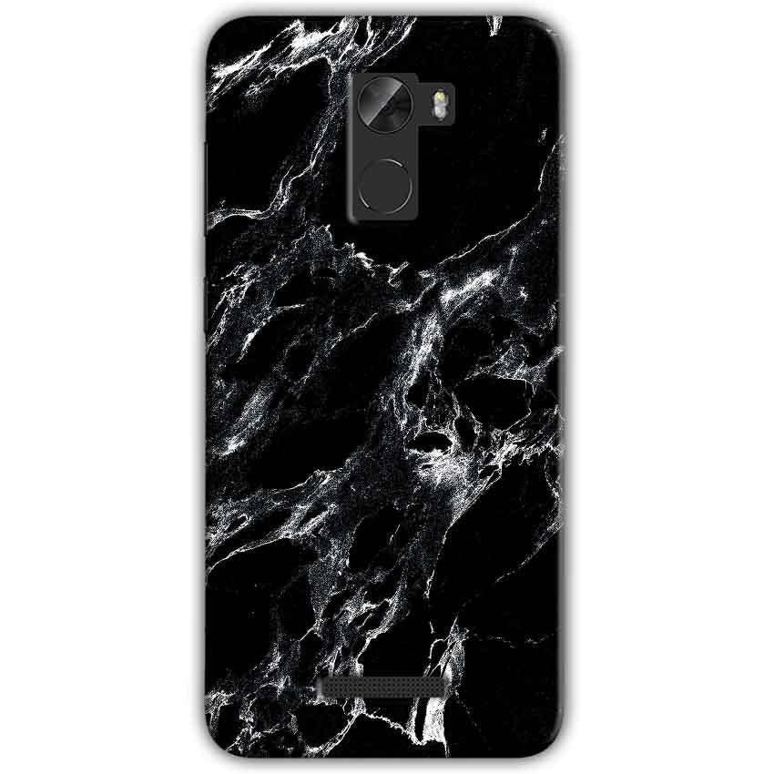 Gionee A1 Lite Mobile Covers Cases Pure Black Marble Texture - Lowest Price - Paybydaddy.com