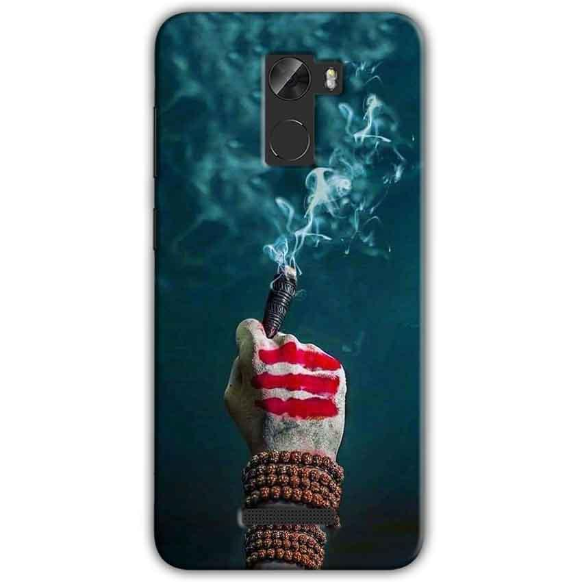 Gionee A1 Lite Mobile Covers Cases Shiva Hand With Clilam - Lowest Price - Paybydaddy.com